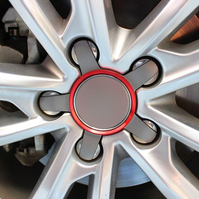 Carmonsons Metal Tires Wheels Cartwheel Circle Trim Cover for Audi A3 A4 A5 A6 A7 A8 Q3 Q5 Q7 S3 S4 S5 S6 S7 S8 Car Styling
