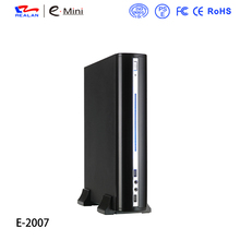 Realan 2007C Vertical Mini ITX Case With Fan USB Audio HDD SATA Small ATX Cases For PC