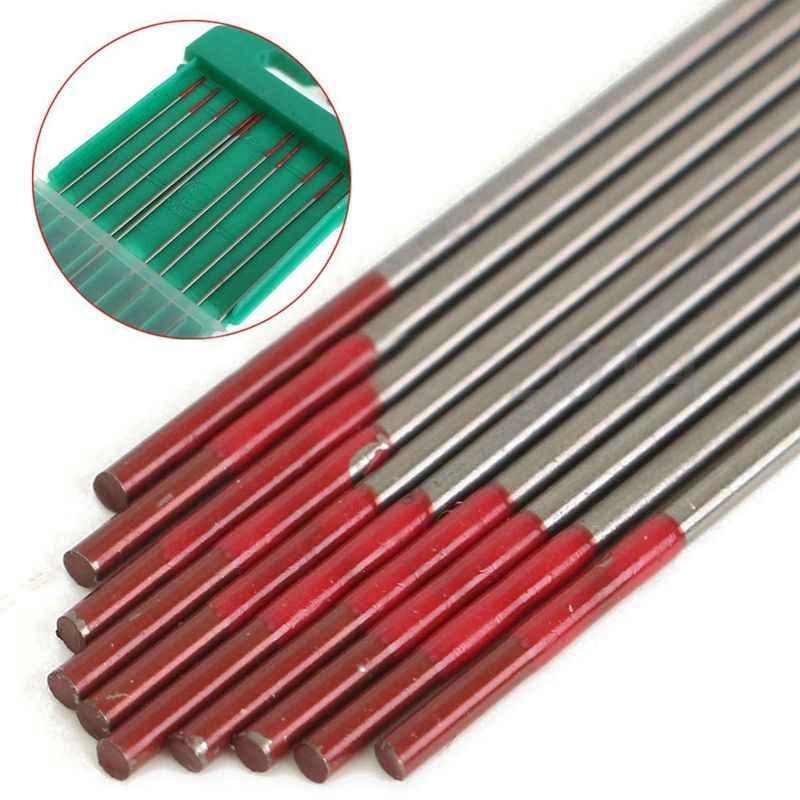 ELEG-10pcs WT20 Ponta Eletrodos De Solda TIG Lanthanated Tungstênio 2% 150 milímetros/6 polegada