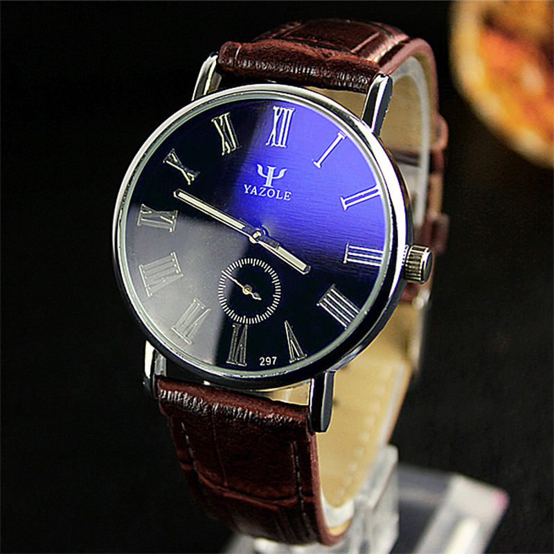 YAZOLE Top Brand Luxury Men's Watch Men Watch Fashion Luminous Watches Roman Numerals Wrist Watch Clock saat relogio masculino 2017 fashion erkek saat quartz watch women girl roman numerals leather band wrist bracelet watches hot sale dropship relogio