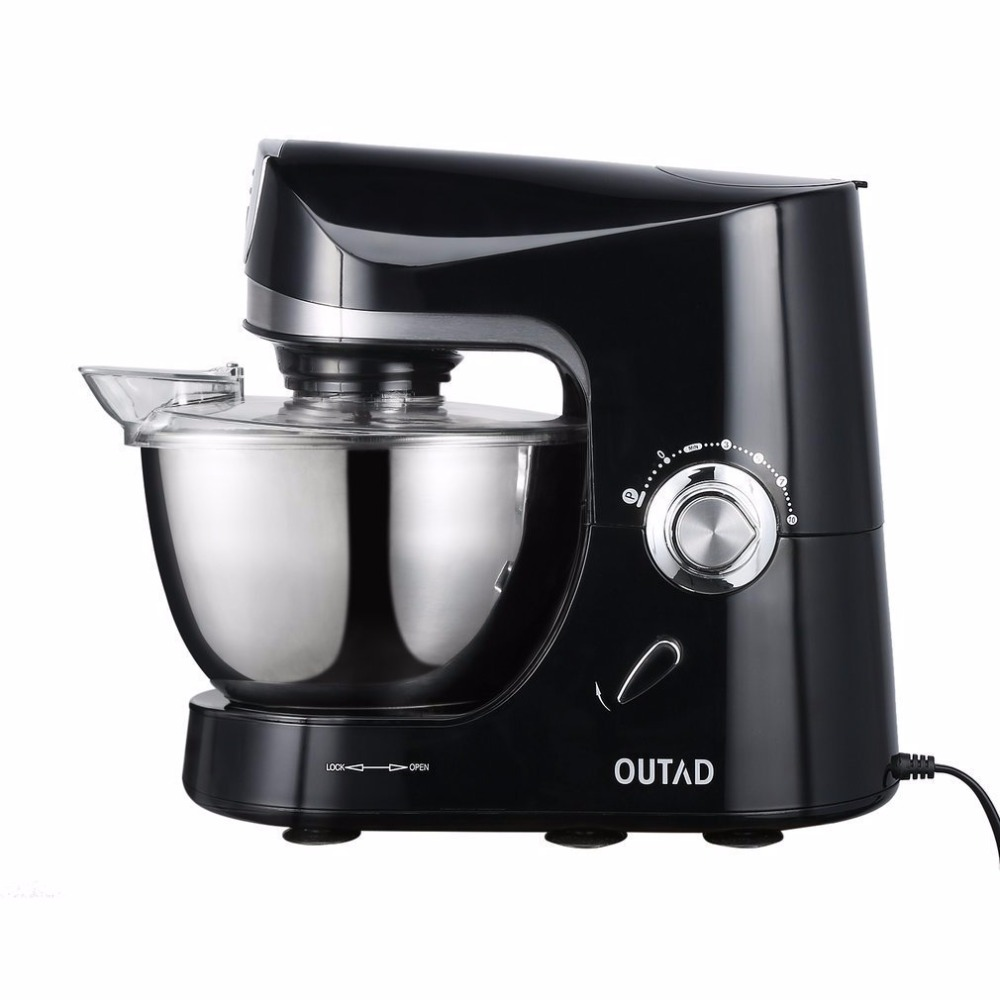 Free Shiping Multifunction Stand Mixer 220V/1200W 5L Stainless Steel Bowl 10 Speed Kitchen Electric Mixer dough Machine  blender