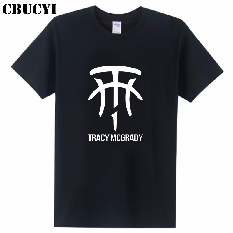 Men's Casual Cotton T-shirt. TRACY MCGRADY Prints Men's Short Sleeve Letters. A Variety Of Colors To Choose From.