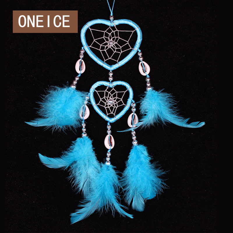 ONEICE Free Shipping Dreamcatcher Pendant direct deal Up and down Double loop Heart Dream Catcher Home Wedding Decoration