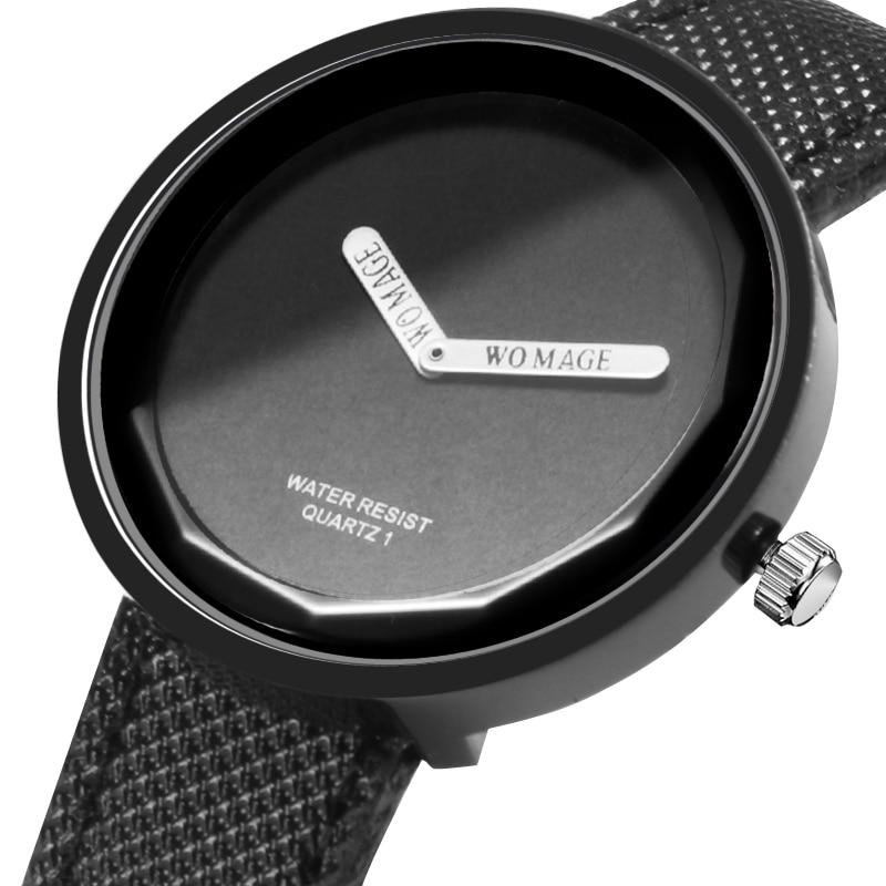 Womage Women Watches Brife Style PU Leather Watch Colorful Quartz Womesn Wristwatch Mujer Relogio Feminino Reloj Hombre 2019