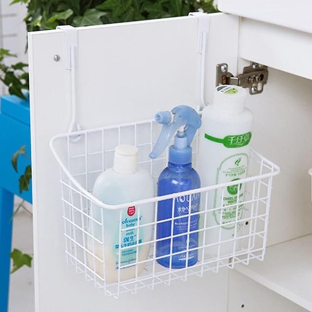 Küche Metall Ablagekorb Tür Schublade Hanger Badezimmer Büro Kleinigkeiten  Organizer Lagerregal Haken Halter #237831