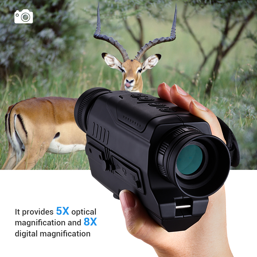 BOBLOV PJ2 5x32 Digital Infrared Night Vision Goggle Monocular 200m Range Free 16GB DVR for Hunting Telescope Military Tactical-in Night Visions from Sports & Entertainment