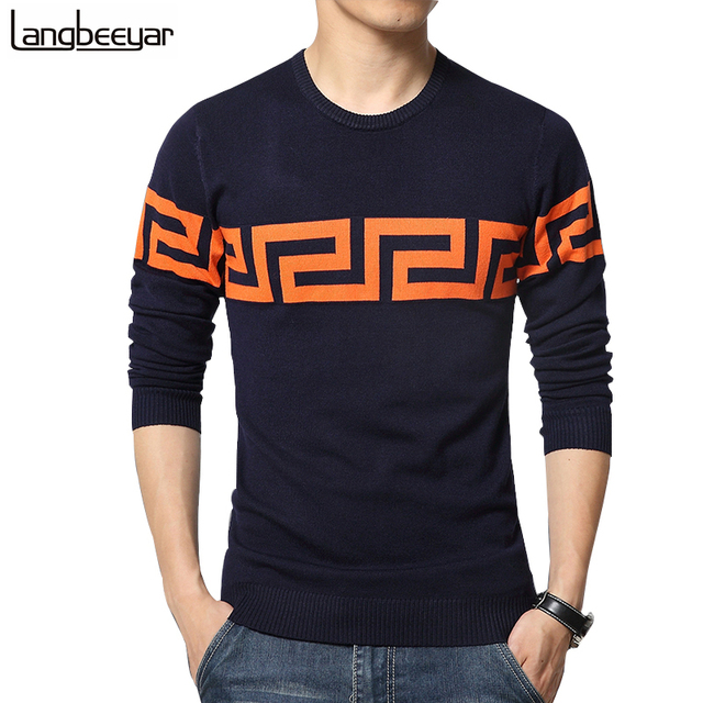 Hot Sale 2017 New Fashion Winter Pullover Sweater Men O-Neck Knitted Sweater Trend High-quality Mens Sweaters And Pullovers 5XL