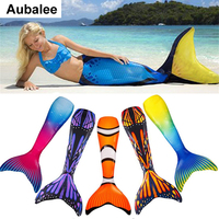 New Kids Girls Adult Mermaid Tail Swimmable Swimwear Cosplay Costume Mermaid Tails Monofin For Woman Swimming