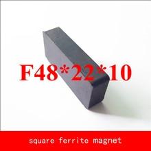 2pcs 48*22*10MM work temperature -40 to +220 Celsius black permanent Ferrite Magnet ledere 5pcs lot y30 ring ferrite magnet 60 10 mm hole 32mm permanent magnet 60mm x 10mm black round speaker magnet 60x10