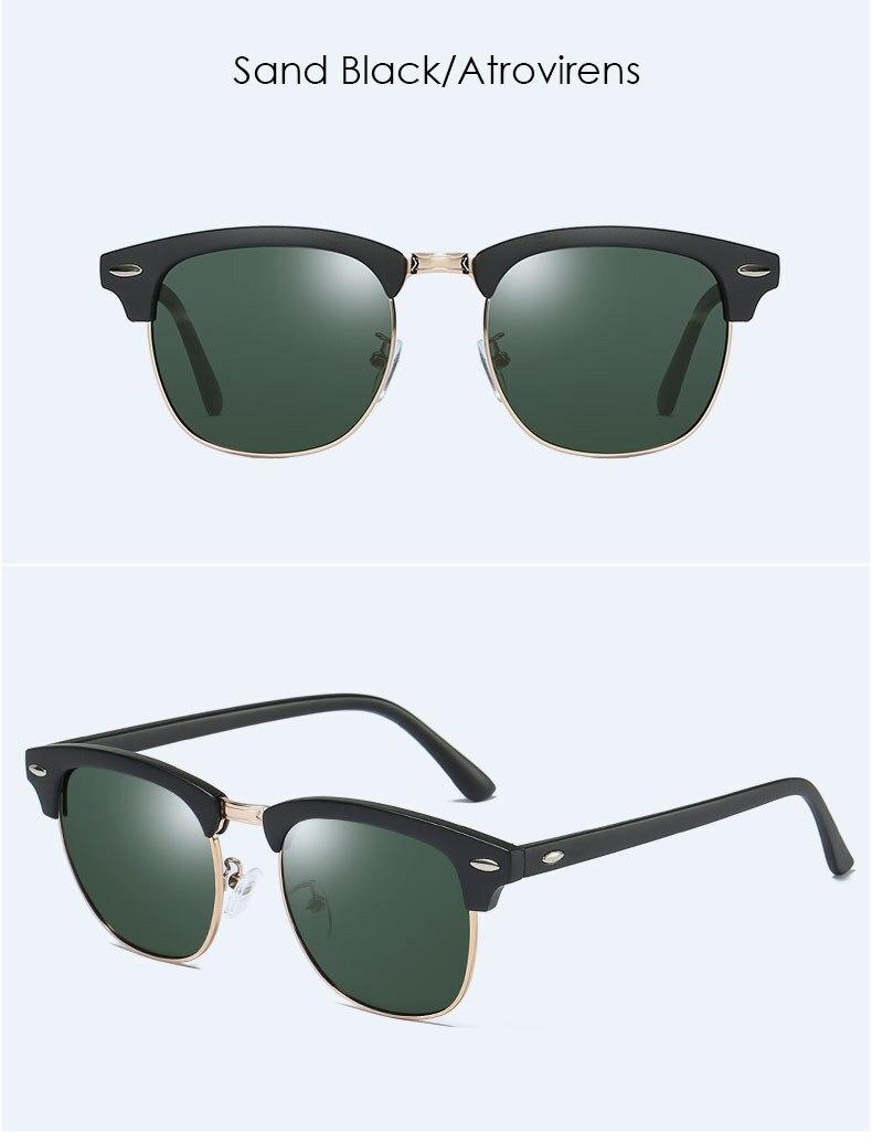 Óculos de sol feminino polarizado, óculos de