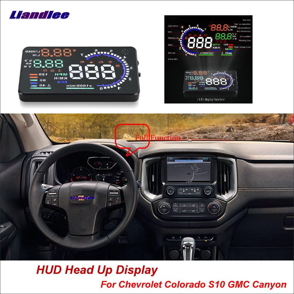 Liandlee Car Hud Head Up Display For Chevrolet Colorado S10 Gmc