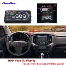 Liandlee Car HUD Head Up Display For Chevrolet Colorado S10 GMC Canyon 2012-2018 Safe Driving Screen OBD Projector Windshield liandlee car hud head up display for chevrolet colorado s10 gmc canyon 2012 2018 safe driving screen obd projector windshield