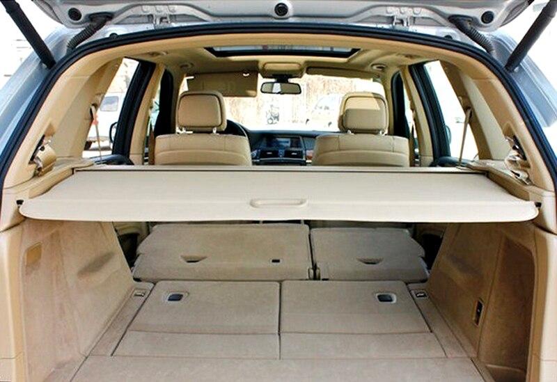 Pour BMW X5 E70 arrière queue coffre couverture de cargaison bouclier de sécurité ombre Beige 2008 2009 2010 2011 2012 2013
