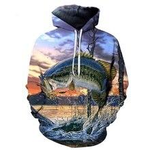 3D тропическая рыба забавные толстовки для Fishinger Рыбак для мужчин женщин с длинным рукавом толстовки капюшоном уличная хип хоп куртки