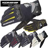 Komine 162 Motorcycle Gloves Men Motocross Gloves Full Finger Riding Motorbike Moto Gloves Motocross Guantes Gloves M L XL XXL