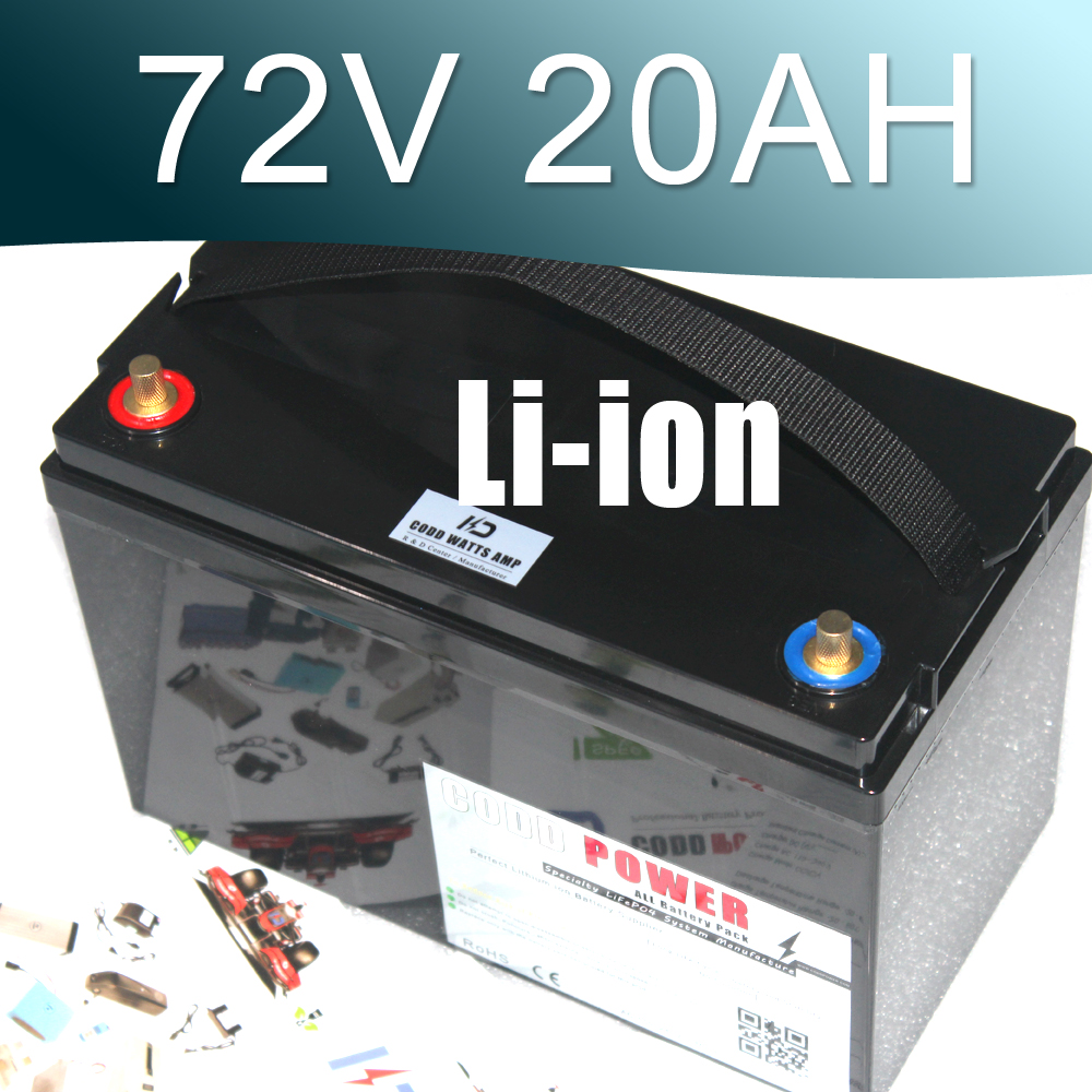 72V 3000W Lithium ion Battery Pack For Scooter E-motorcycle Electric bike powerful 48v electric bike battery pack li ion 48v 50ah 1000w batteries for electric scooter with use panasonic 18650 cell