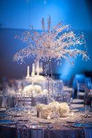 90 см Высокий Акриловые Кристалл Свадебное дерево дорога ведет Свадьба центральным кристалл елки вечерние Опора стол центральные 6 шт.