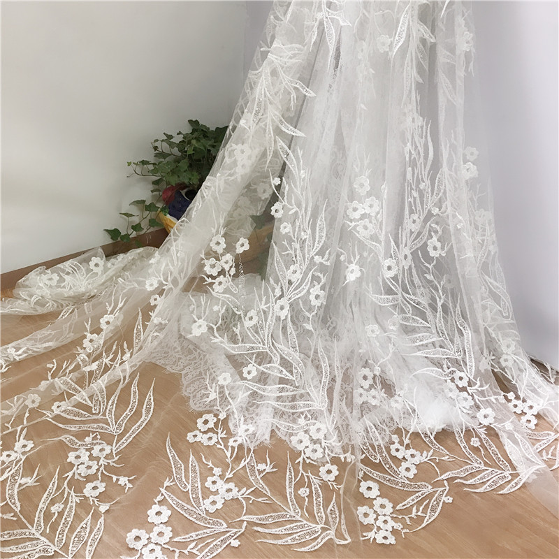 2019 New Style Off White Wedding Dress Embroidery French