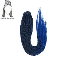 Desire for hair 1pack 22inch 100g 30strands synthetic 2X crochet senegalese twist braids hair ombre black blue purple grey color