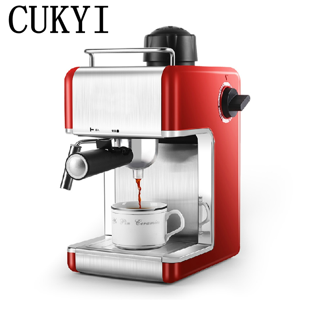 CUKYI Italy espresso coffee machine semi automatic maker Cup-warming plate kitchen tools 220V korea brand sn 3035 automatic espresso machine coffee maker with grind bean and froth milk for home