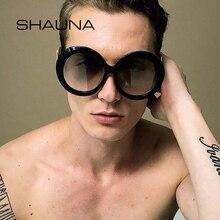 ec2640e055 SHAUNA Oversize Round Gradient Sunglasses Women Double Colors Big Frame  Shades Men