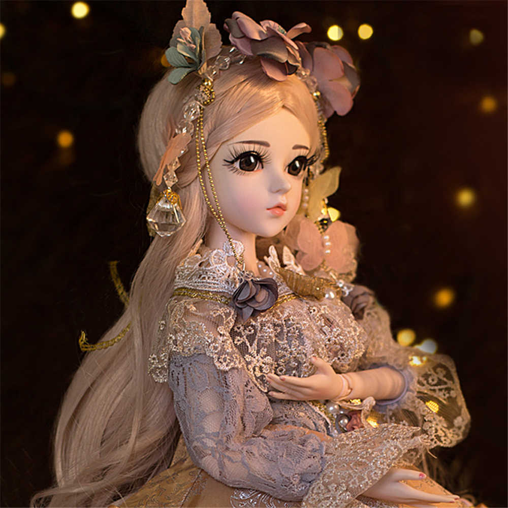 BJD 60 см элегантная кукла игрушки 1/3 коричневые глаза с одеждой ручной работы красоты игрушки силиконовая кукла-младенец игрушка подарок для детей