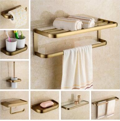 Free shipping,solid brass Bathroom Accessories Set, Antique Robe hook,Paper Holder,Towel Bar,Soap basket,Towel Rack bathroom set free shipping antique brass double cup rack bathroom accessories wholesale 64004b
