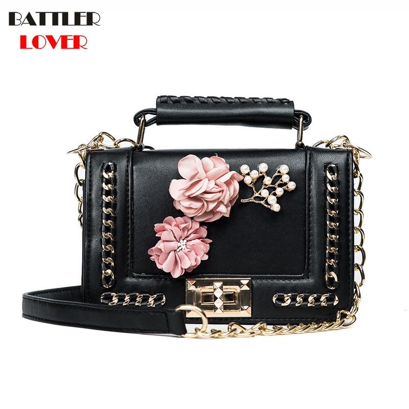 2019 3D Flower Design Womens Small Clutch Bags Handbags Crossbody Bags Girl Shoulder Messenger Bag Women Mujer Handbag For Women