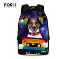 Large Capacity 17 inch Animal Music Dog Cat Printed Women Laptop Backpack College Student School Backpacks Girls Casual Bagpack