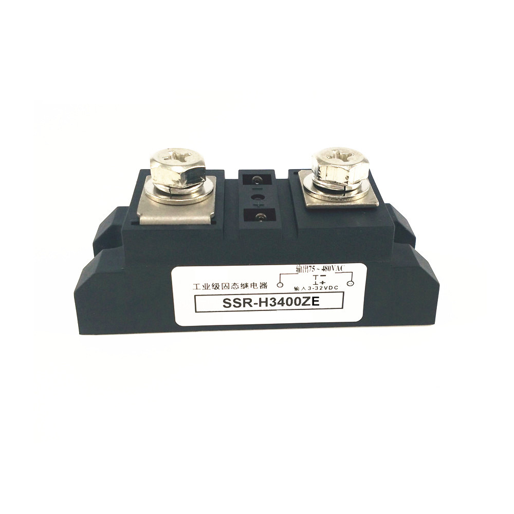 Single Phase Industrial Solid State Relays 400A H3400 480VAC SSR-H3400ZESingle Phase Industrial Solid State Relays 400A H3400 480VAC SSR-H3400ZE