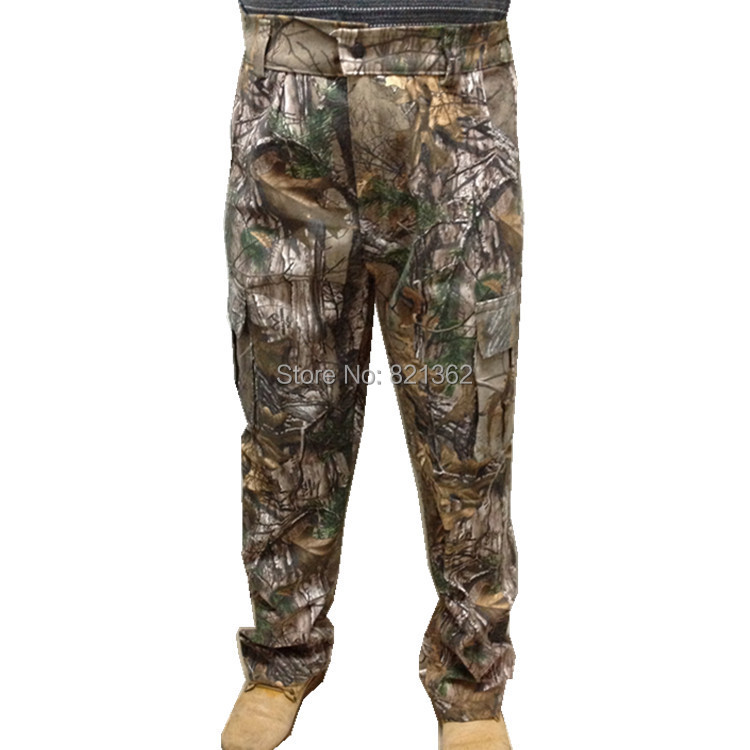 Professional Pure Cotton Realtree Camouflage Hunting Pants Trouser for Hunter Free Shipping hunting big size bionic realtree camo pants clothes pure cotton realtree camouflage trousers pants