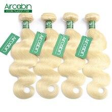 613 Blonde Bundles Hair Extensions Brazilian Hair Weave Bundles Body Wave Non Remy 100% Human Hair 12 To 26 Inches AircabinHair