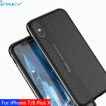iPaky Orignal Brand For iPhone 5/5S/SE Case PC Frame+Silicon Back Cover Cellphone Case for iPhone 7 8 Plus for iPhone X