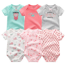 Newborn Baby Girls Romper Clothes 2019 Summer Kids Jumpsuit 3 12M Roupa de bebe Pajamas Short Sheeve Cartoon Baby Boys Clothing