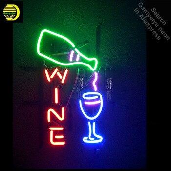 Neon Dấu Hiệu cho Rượu Vang Thích Hợp cho Quà Tặng Bóng Đèn Neon dấu hiệu cup thủ công Biển Hiệu Bất Glass ống Dropshipping neon thanh đèn