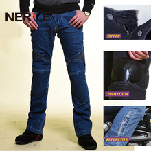 Brand NERVE Motorcycle Riding Protection Pants Motocross/MOTO Racing Gear Breathable Jeans for Men and Women Summer