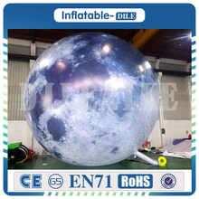 2m 3m Party Balloons Lighting Inflatable Balloon Inflatable Moon Printing Planet for Decoration
