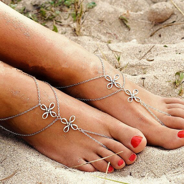 Vintage Silver Bell Bohemian Ankle Bracelet Cheville Barefoot Sandals  Pulseras Tobilleras Mujer Foot Jewelry For Women d204d822bb87