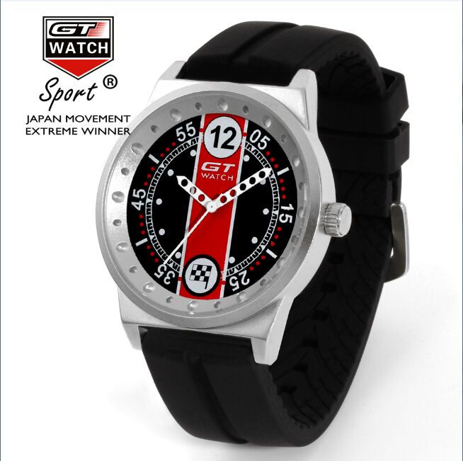 009 GT Brand Limited Edition Design F1 Racing Series Watch With Rubber Belt And Japan Movement Male Clock Rokas Pulkstenis 10pcs
