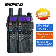 2 UNIDS Nueva Baofeng 8 W UV-8HX 3800 mAh Walkie Talkie Interphone Portable Pofung UV-5R Jamón Doble Banda de Radio de Mano Amateur Radio