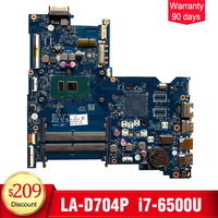 YTAI for HP 15 AY laptop motherboard BDL50 LA D704P SR2EZ i7 6500U DDR4 854934 601 mainboard 100% tested