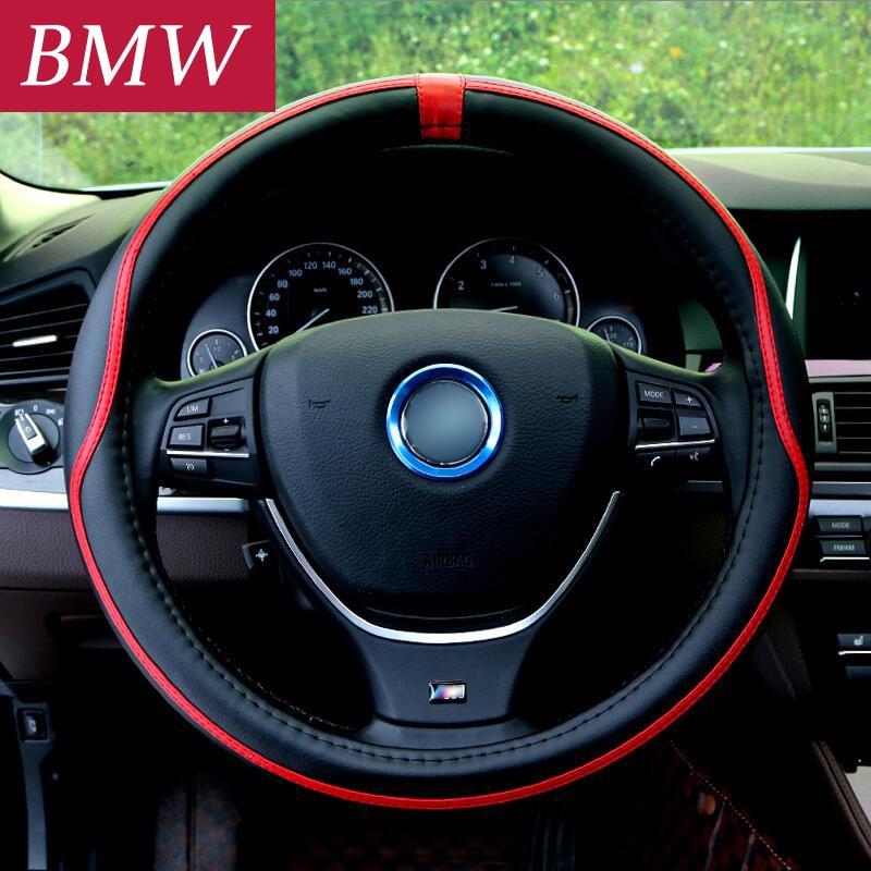 38 CM Voiture Couverture De Volant De voiture Pour BMW 1 2 3 4 5 7 Série X1 X3 X4 X5 X6 F30 F10 F15 F16 F34 F07 F01 E70 E71 E60 E90 E92