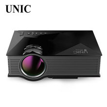Originais unic uc46 1200 lumens portátil mini led wi-fi em casa teatro Projetor de Vídeo Multimídia PC USB SD AV HDMI Proyector Beamer(China (Mainland))