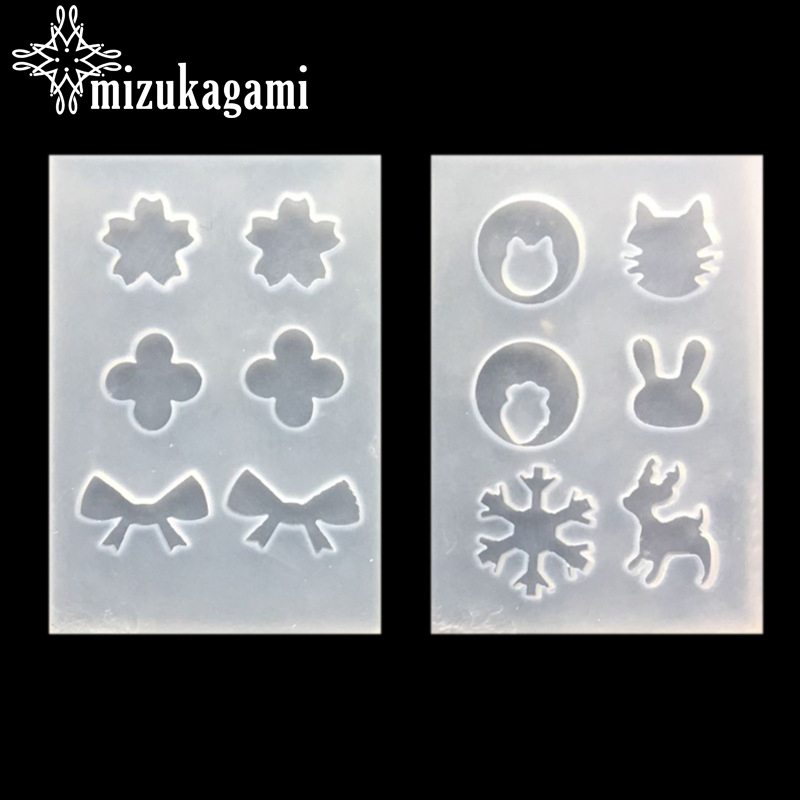 UV Resin Jewelry Liquid Silicone Mold Bowknot & Snowflake Cute Resin Charms Molds For DIY Intersperse Decorate Making Molds