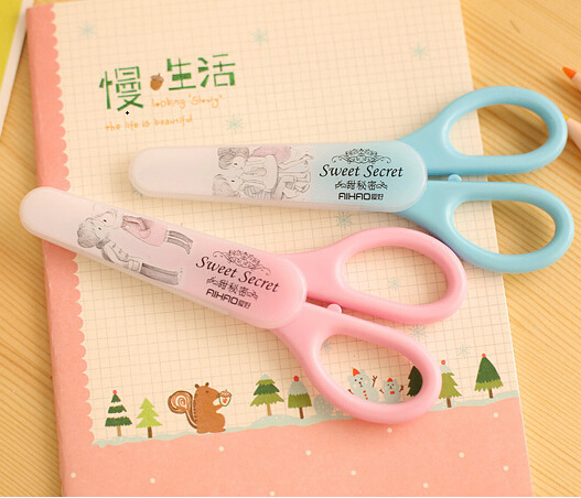 [4Y4A] 5pcs Cute Kawaii Safe Plastic Scissors Paper Border Cutter For Kid Scrapbooking Decoration Gift Stationery