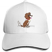 43a3b8db88b Funny Dog Adjustable Sandwich Baseball Cap Cotton Snapback Peaked Hat(China)