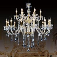 Luxury Royal Empire Golden Europen Crystal Chandelier Large Contemporary Lighting French Style Hotel Lobby Design Lighting
