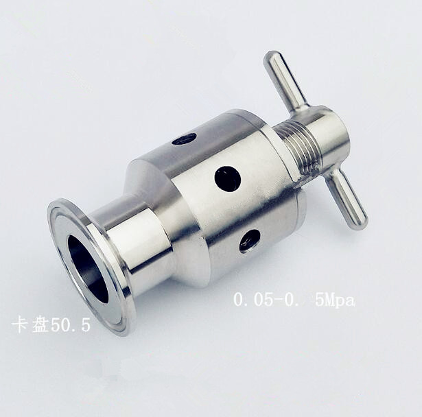 1.5(OD50.5mm) 0.5-5 bar Tri-Clamp Adjustable Pressure Relief Child Safety Valve,Sanitary Stainless Steel 3041.5(OD50.5mm) 0.5-5 bar Tri-Clamp Adjustable Pressure Relief Child Safety Valve,Sanitary Stainless Steel 304