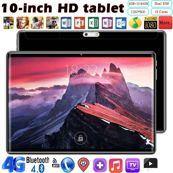 2019 High Quality Tablet 2.5D Screen 10.1 Inch 6G+128G WiFi Tablet PC Dual SIM  MTK6797 Bluetooth WiFi Call Phone Game Tablet PC