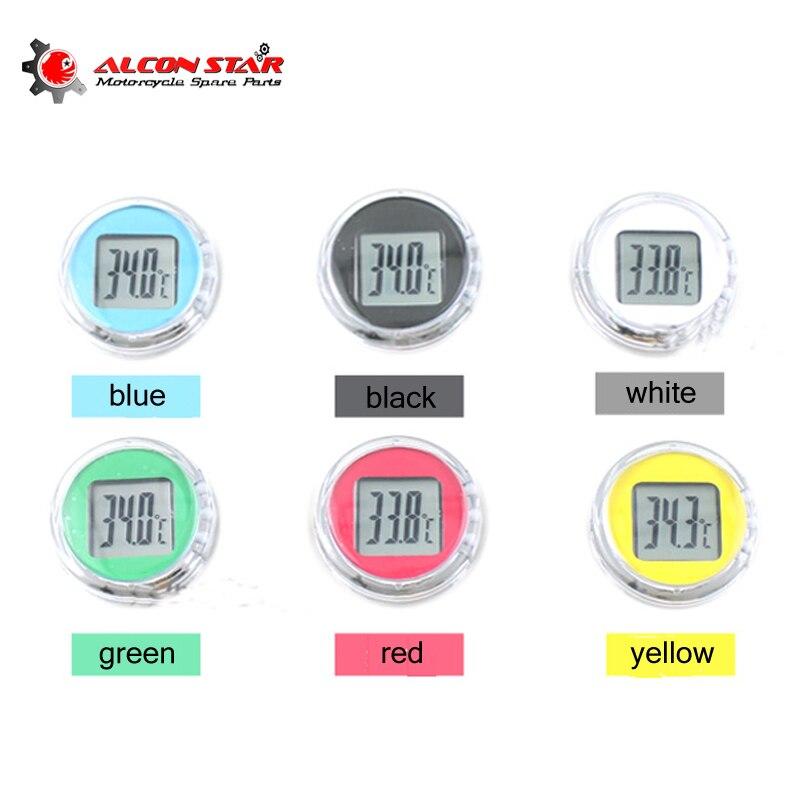 Alconstar- Mini Precision Motorcycle Clocks Watch Waterproof Stick-On Motorbike Mount Watch Moto Digital Clock With Stopwatch